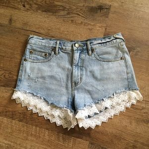 Lace Trim Free People Shorts